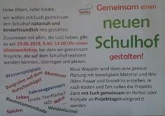 flyer_schulhof_neugestaltung©Grundschule Wietzen