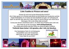 Flyer Spendenaufruf fuer Zirkus Rasch©Grundschule Wietzen