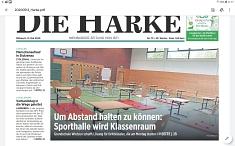 Sporthalle wird Klassenraum©Die Harke